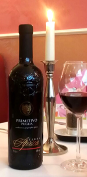 Our wine recommendation Primitivo di Manduria